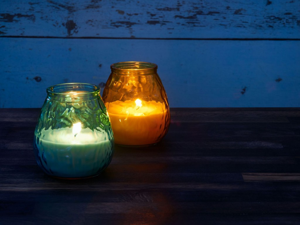 Citronella candles to deter mosquitoes; floral scents may attract mosquitoes
